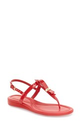 Women's Cole Haan 'Marnie' Flat Sandal True Red Patent