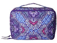 Vera Bradley Large Blush Brush Makeup Case Lilac Tapestry Cosmetic Case Purple