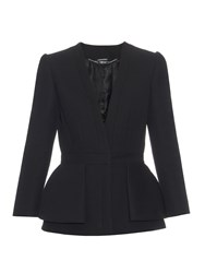 Alexander Mcqueen Tailored Wool And Silk Blend Jacket