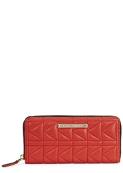Karl Lagerfeld K Kuilted Red Quilted Leather Wallet