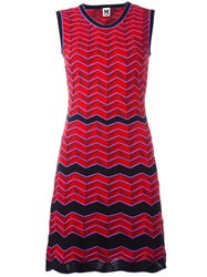 M Missoni Zig Zag Pattern Dress Red