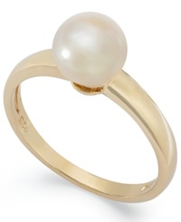 Victoria Townsend 18K Gold Over Sterling Silver Ring Pearl June Birthstone Ring 7Mm