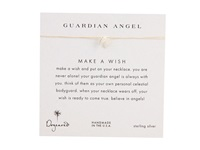 Dogeared Make A Wish Guardian Angel Necklace Cream Silver Necklace White