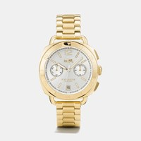 Coach Tatum Gold Tone Sunray Dial Bracelet Watch Gold Plated