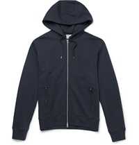 Acne Studios Johna Cotton Blend Jersey Hoodie Blue