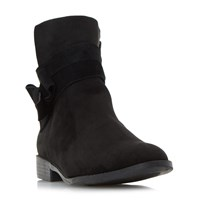 Head Over Heels Pariah Wrap Strap Ankle Boots Black
