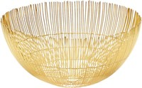 Cb2 Soleil Large Brass Wire Bowl