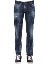 Dsquared 18Cm Slim Fit Aqua Stretch Denim Jeans