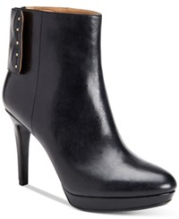 Calvin Klein Women's Palisa Studded Platform Booties Women's Shoes Black