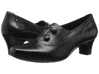 Aravon Elsa Black Women's Slip On Dress Shoes
