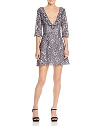 For Love And Lemons Theodora Lace Mini Dress Vintage Grey Floral