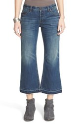 Free People 'Chelsea' Crop Flare Jeans Jacob Blue