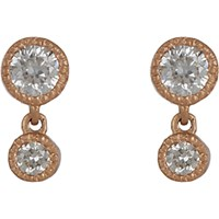 Tate Women's Diamond Double Drop Earrings Pink No Color Pink No Color
