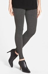 Nordstrom Women's Zip Detail Leggings Dark Grey Heather