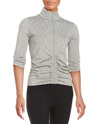 Calvin Klein Ruched Athletic Jacket Grey