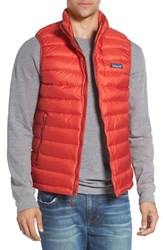 Patagonia Men's Windproof And Water Resistant 800 Fill Power Down Quilted Vest Ramble Red