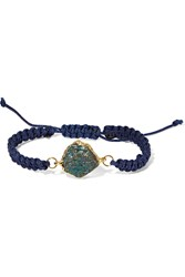 Dara Ettinger Braided Cord And Stone Bracelet Blue