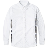 Sophnet. Camouflage Side Panel Button Down Shirt White