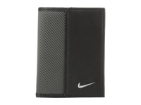 Nike Leather Tech Twill Credit Card Fold Dark Grey Credit Card Wallet Gray