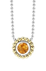 Women's Lagos Stone Pendant Necklace Citrine