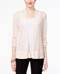 Alfani Mixed Stitch Open Front Cardigan Only At Macy's Silver Peony