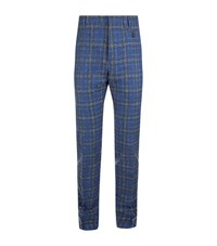 Vivienne Westwood Tartan Check Trousers Male Blue