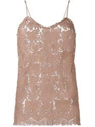 Erika Cavallini Lace Cami Top Pink And Purple