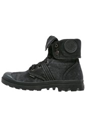 Palladium Pallabrousse Baggy Laceup Boots Black Metallic Black