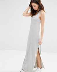 New Look Racer Back Maxi Dress Grey Marl