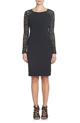 Cynthia Steffe Women's Michaela Lace And Jersey Sheath Dress