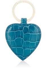 Smythson Women's Mara Heart Key Ring Turquoise