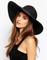 Whistles Wide Brim Sun Hat Black