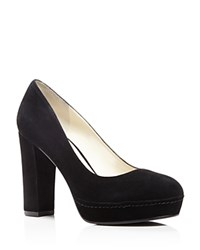 Bettye Muller Moon Platform High Heel Pumps Black