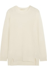 Michael Michael Kors Mercerized Wool And Cashmere Blend Sweater White