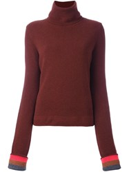 Paul Smith Roll Neck Jumper Red
