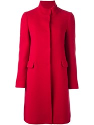Blugirl Fitted Single Breasted Coat Red