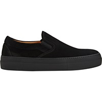 Suede Slip On Platform Sneakers Black