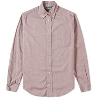 Gitman Brothers Vintage Mini Herringbone Shirt Burgundy