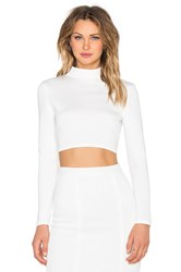 Twin Sister Cut Out Back Longsleeve Top White