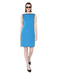 Isaac Mizrahi Sleeveless Dress With Contrast Trim Blue