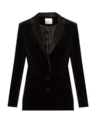 Racil Phoenix Satin Lapel Velvet Jacket Black