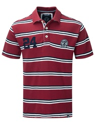 Tog 24 Connor Stripe Polo Regular Fit Polo Shirt Red