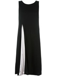 Armani Collezioni Pleated Midi Dress Black
