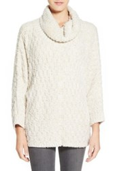 Chelsea 28 Fluffy Turtleneck Sweater White