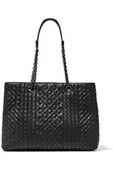 Bottega Veneta Shopping Intrecciato Leather Tote Black