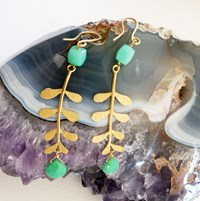Branch On The Park Gold Plated Evie Leaf Earrings