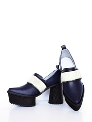 Jamie Wei Huang Tuva Chunky Leather High Heel Blue