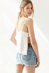 Silence And Noise Silence Noise Blanco Tie Side Cami White