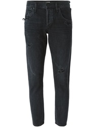 Citizens Of Humanity Distressed Slim Jeans Black