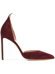 Francesco Russo Pointed Toe Pumps Red